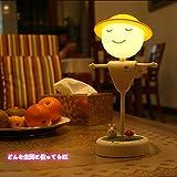 LENDOO かかし形 テーブルライト・卓上スタンド LED 間接照明 調光可能 USB充電対応 目に優しいタッチセンサー ナイトライト インテリア照明 おしゃれ 書斎 勉強部屋 子供部屋 寝室 (暖色光)