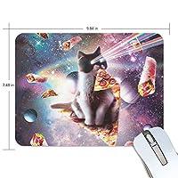 マウスパッド ピザ 猫の空間 惑星 疲労低減 ゲーミングマウスパッド 9 X 25 厚い 耐久性が良い 滑り止めゴム底 滑りやすい表面