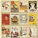 Neustadt ヴィンテージ風 レトロアメリカン ポスター柄 ポストカード 32枚セット