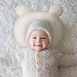 ベビー まくら ベビー枕 新生児 赤ちゃん 絶壁頭 斜頭 変形 猫背 防止枕 寝姿を矯 正 夜泣き 寝ハゲ対策 頭の形が良くなる 汗取り 快眠 小熊型 低反発ピロー 100% 綿 無添加 通気枕 赤ちゃん 枕 ベビーピロー 出産祝い (1〜6ヶ月向け)