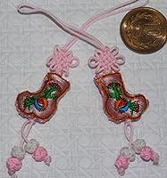 【中国雑貨多幸屋】 素敵なアイテム刺繍携帯 ストラップ ギフト・中国のお土産として