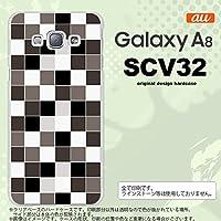 SCV32 スマホケース Galaxy A8 SCV32 カバー ギャラクシー A8 スクエア グレー nk-scv32-1016