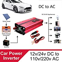 Ungfu Mall 4000W 12V / 24V DCから110V / 220V AC太陽光発電インバータ LED修正正弦波コンバータ