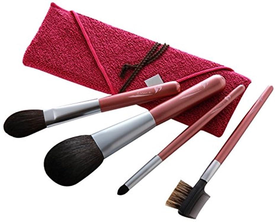 熊野筆 Mizuho Brush きれいに発色するためのブラシ4本セット 筆包み付