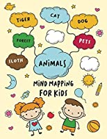 Mind Mapping For Kids: Cute Journal Design with Blank Cloud, Easy Template To Write in - Creative Mind and Improve Memory