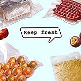 "100 Quart,Size 8"" x 12"" PreCut Sealer food vacuum Bag,Food Saver Vacuum Sealer Freezer Bags for Meal,Food Saver,Plus other Ma"