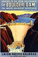 ボールダーフーバーダムアメリカ旅行広告ポスター10 x 13.5 [並行輸入品]