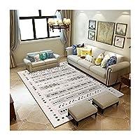 @プチコット カーペットの居間の滑り止めのカーペットの現代ミニマリストの北欧の家の長方形のカーペット モダンエリアラグ (色 : B, サイズ さいず : 200*300cm)