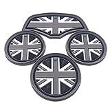スカイベル (SKYBELL) BMW MINI 用 ドリンク ホルダー コースター 1台分セット (【F55】4枚 ブラックジャック)