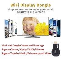 RaiFu ドングルレシーバー WiFi 1080P フルHD HDMI TVスティック ワイヤレス Chromecast/Airplay/DLNA/Miracast用