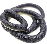 リアル へび ゴム製 130cm 巻き蛇 ゴムヘビ(黒へび)