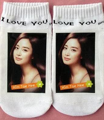 キム・テヒ 韓国製 プリント ソックス 靴下 305
