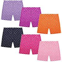 Ruisita 6 Pack Girls Dance Shorts Bike Shorts Wave Point Shorts Breathable and Safety