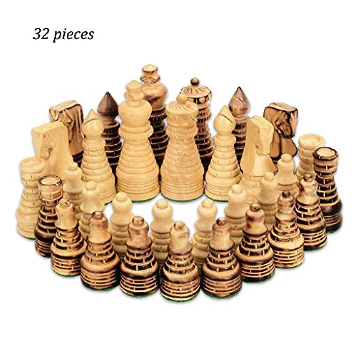 電話判読できないアドバイスチェス 子供知的開発学習玩具ウッドチェスチェッカークリエイティブベージュ&ブラウン木製チェス32個チェッカーチェス チェス (Color : WOOD)
