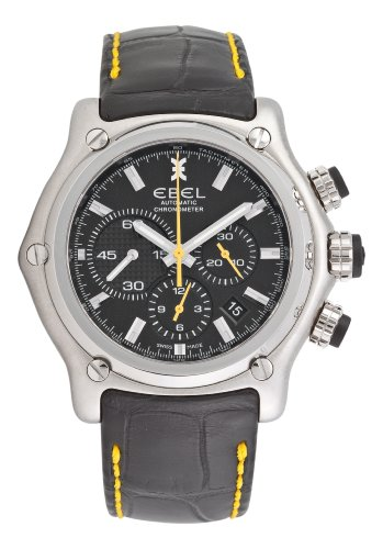 Ebelメンズ9137l72/ 53351451911BTRブラッククロノグラフダイヤル腕時計