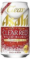 クリアアサヒ クリアレッド缶 [ ビール 350ml×24本 ]