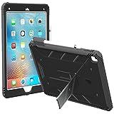 iPad Pro 9.7 ケース ‐Poetic [Revolution シリーズ] - アップル 9.7型 アイパッド プロ 対応 ブラック / ダークグレー [耐衝撃] [デュアルプロテクション] スクリーンプロテクター内蔵 キックスタンド付き