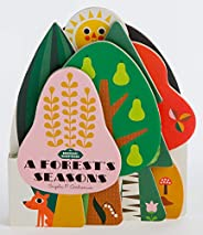 Bookscape Board Books: A Forest's Seasons: (colorful Children's Shaped Board Book, Forest Landscape To