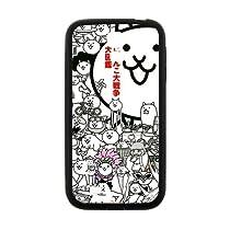 にゃんこ大戦争 猫 Samsung Galaxy S4 I9500 サムスンギャラクシー ケース 保護 携帯カバー(レーザー技術)