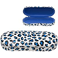 Clamshell Eyeglass Case, Leopard Glasses and Sunglasses Holder, Kids & Adults