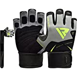 RDX Gym Weight Lifting Gloves Workout Fitness Bodybuilding Exercise Breathable Powerlifting Long Wrist Straps Support Training