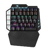 FELiCON 片手キーボード K109 キーパッド 38キー ゲーミングキーボード 片手 左手デバイス メカニカル式 青軸 LED USB有線