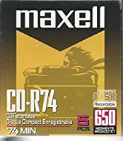 MaxellデジタルメディアCD - R 74-minute (5- Pack)