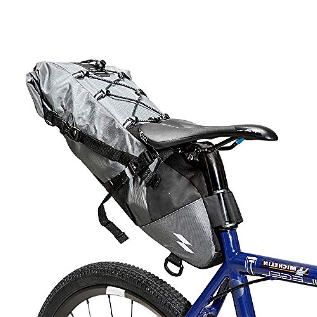 慣性挨拶調停者自転車サドルバッグ 道のバイクの灰色のための防水大容量の循環の後部座席パック スポーツ自転車自転車収納バッグ (Color : Gray, Size : 40*14.5*11.5)