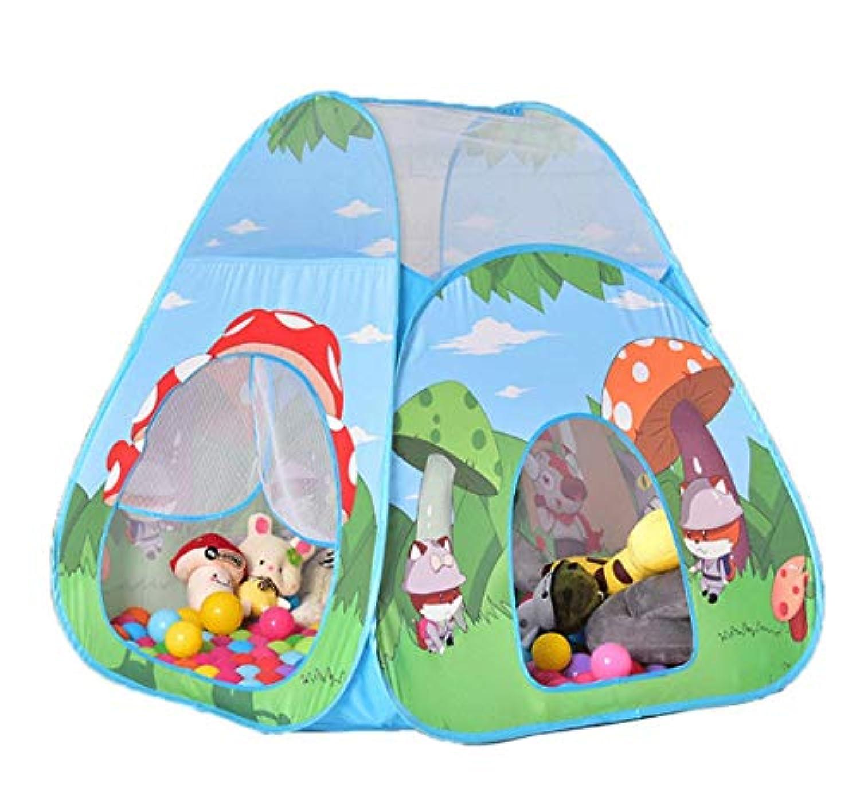 MICHEALWU 子供用 プレイテント 屋内外でのプレイハウス テント ポップアップ 組み立て不要 収納や旅行に便利なキャリーケース付き 創造性を高める 98cm98cm103cm