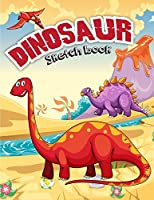 Dinosaur Sketchbook: Paper Book for Sketching, Drawing, Journaling & Doodling Sketchbooks, Perfect Large Size, Cute Dinosaur Cover