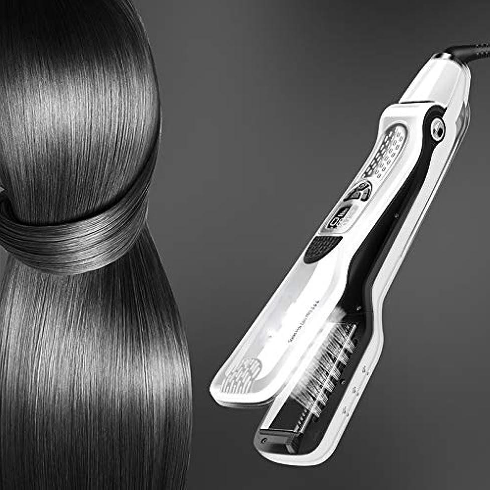 偏心バラエティ光沢のあるCQQ プロのヘアストレイテナースチームフラットアイロンストレイテナー浮動加熱プレート蒸気は矯正ブラシスプレー