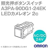 オムロン(OMRON) A3PA-90DG1-24EK 照光押ボタンスイッチA3Pシリーズ ( 角胴形・正方形・無分割) ( LEDカメレオン) ( オルタネイト) NN