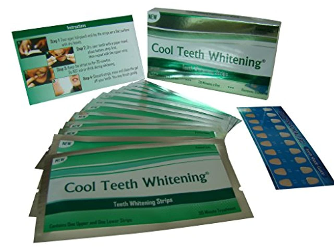 Cool Teeth Whitening?つ? 14 Treatments Advanced Professional 6% Hp Strength Dual Elastic Band Teeth Whitening Gel...