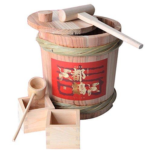 都鶴  ミニ樽鏡開きセット 純米酒1800ml