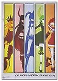 BLACK☆ROCK SHOOTER スペクトラムガールズ 布製ポスター 75×107cm 布素...