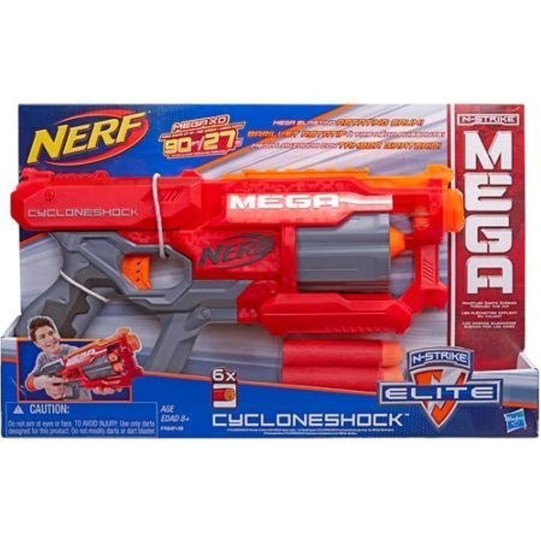輸入ナーフエヌストライクアメリカ Nerf N-Strike Elite Mega CycloneShock Blaster, Darts Fly 90' And Scream As They Fly [並行輸入品]