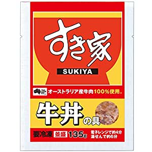 すき家 牛丼の具 32パック (135g×32) 並盛 冷凍食品
