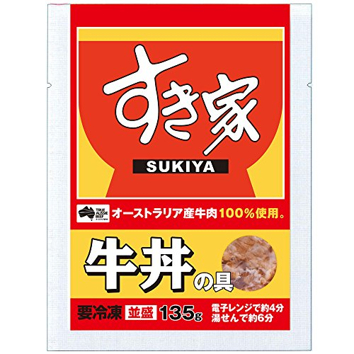 すき家 牛丼の具 135g 【冷凍】