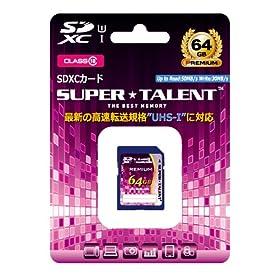 スーパータレント UHS-I SDXCメモリーカード 64GB Class10 ST64SU1P
