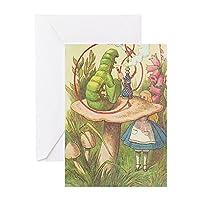 CafePress–the Hookah Smoking Caterpillar–グリーティングカード、注意カード、誕生日カード、空白内側マット