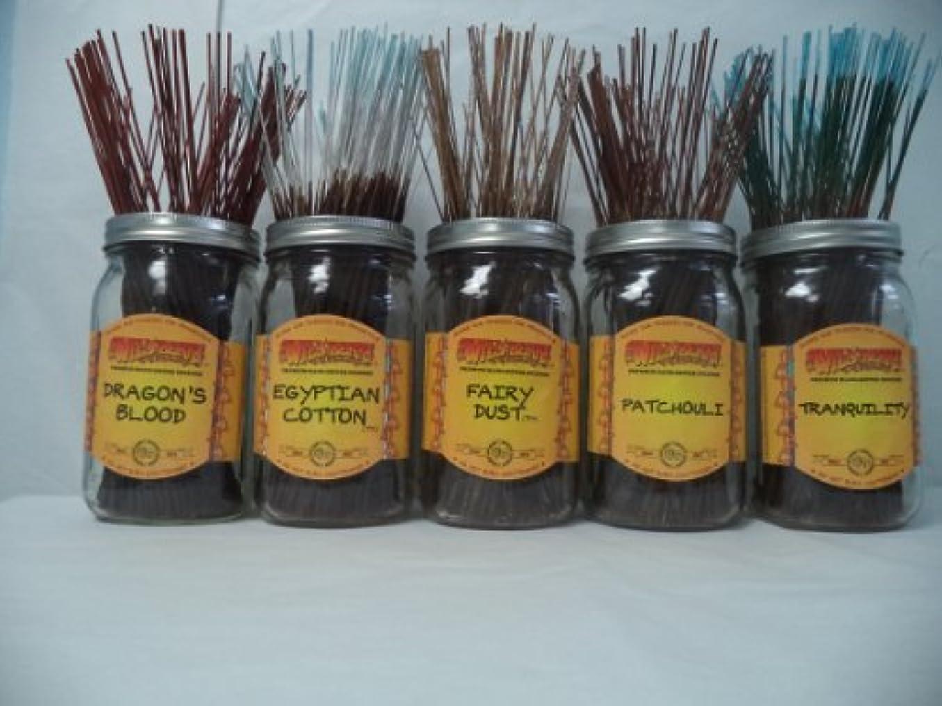 曖昧なペルセウスシネマWildberry Incense Sticks Best Sellerセット# 2 : 4 Sticks各5の香り、合計20 Sticks 。