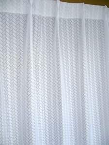 網代編み風ミラーレースカーテン100×108cm【2枚入】