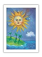 ハワイの日(ラ) - ペイントされた元の色からのものです によって作成された ニコラ・モス - アートポスター - 46cm x 61cm