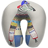 Merlin Quintina スカーフ ゼブラ 抱き枕 U字型クッション 首枕 ネッククッション 旅行ピロー360度快適な睡眠 子宮頸椎 保護 ポータブル