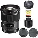 シグマ50mm f / 1.4DG HSMレンズfor Canon EFカメラ( 311101) with Sigma USB Dock for Canonレンズ& Lexar 32GB Professional 100..