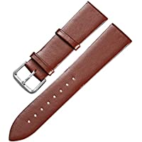 Genuine Leather Watch Band 14mm/16mm/18mm/20mm/22mm/24mm Bands Replacement Watch Bracelet Black Brown with Pin Buckle
