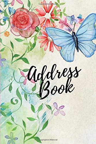 Address Book: Blue Butterfly & Floral Design