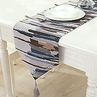 テーブルランナー テーブルクロス布地ノルディックテーブル盛り合わせティーテーブルテレビキャビネット布テーブル装飾布ストリップモダンシンプルダブルレイヤー (色 : B, サイズ さいず : 30 * 180センチメートル)