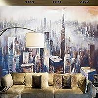 Ansyny カスタマイズされた現代の3D不織布写真壁画建設紙ニューヨーク市風景画家の装飾のためのテレビのソファの背景-300X200CM