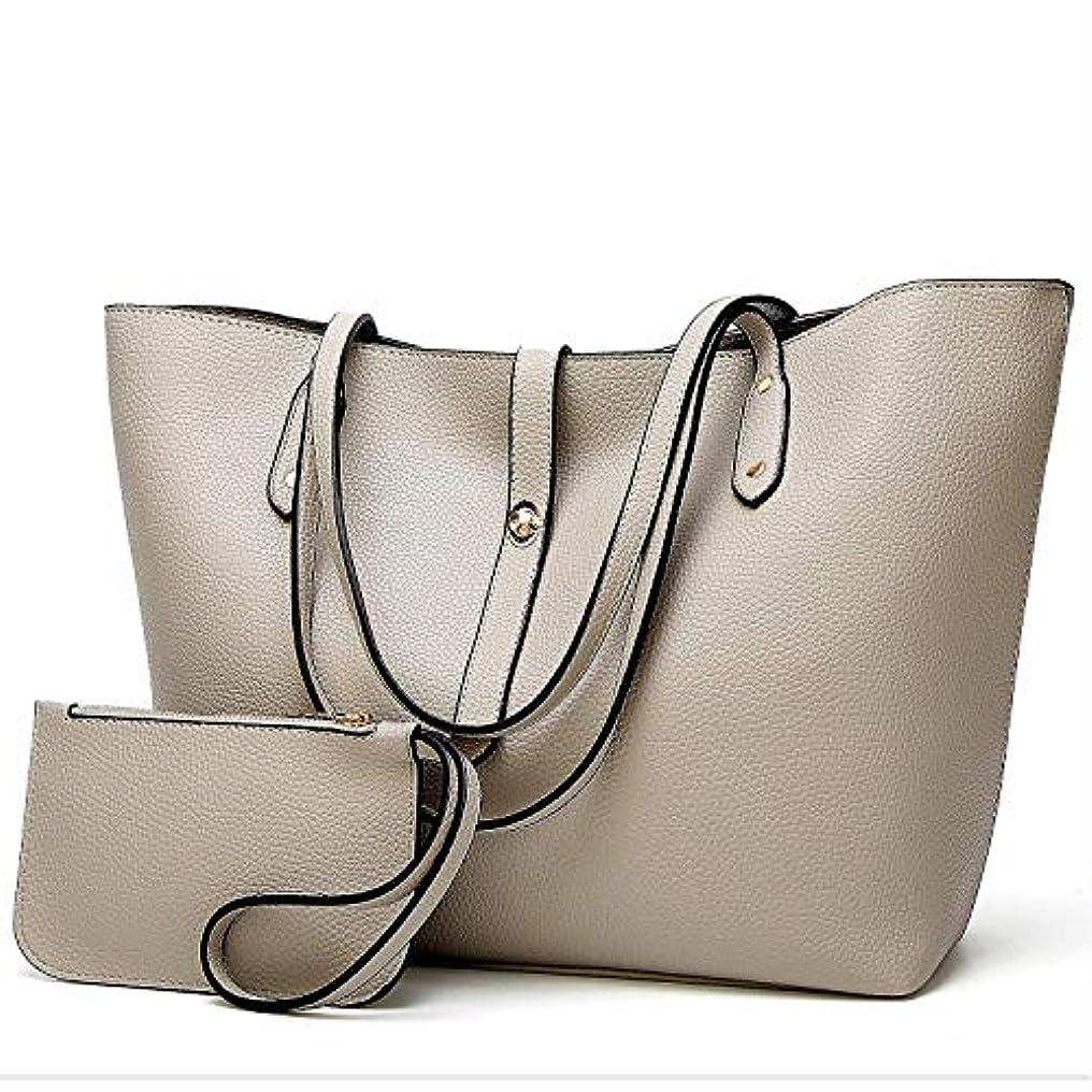 真空伝記く[TcIFE] ハンドバッグ レディース トートバッグ 大容量 無地 ショルダーバッグ 2way 財布とハンドバッグ